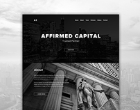 Financial company website design.