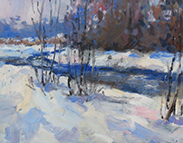 """Snow Snow"" oils canvas 30x40"