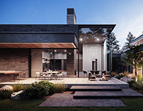 House in Pine wood by Kerimov Architects