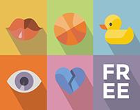 Free 500 Flat icons