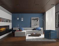 Modern Living Room / Interior Design