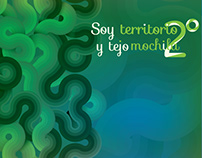 Soy territorio y tejo mochila (book design)