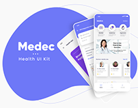 Medec Health app UI Kit - Freebie