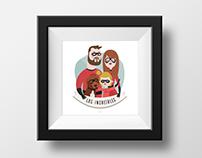 Ilustración personalizada 'Los Inbreíbles'