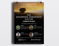 Marlborough Winegrowers Election Poster