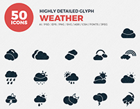 JI-Glyph Weather Icons Set
