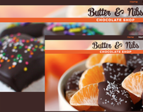 Chocolate Shop Web Design Template