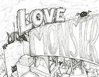 Love Monster Sketches and Doodles for Social Media