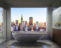 Penthouse Bathroom Render
