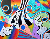 'Ritmos aleatorios' (Mural)