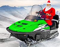 Santa Atv Snow Bike Racing 2020