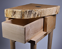 Oak and Maple Side Table