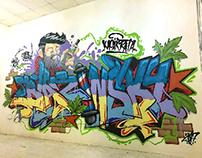 BlazinSky vape store graffiti