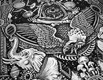 'Cosmic Gods' Illustration.