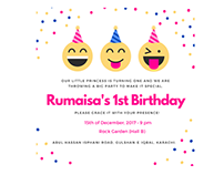 Rumaisa's Birthday Digital Invitation Card