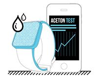 Aceton Test (Wearable Sensor + app)
