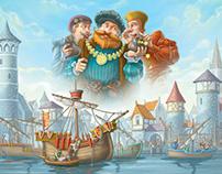 Illustration for board game
