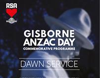 Gisborne Anzac Day Commemorative Programme 2015