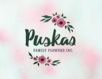 Puskas Family Flowers Rebrand