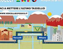 Campagna Comune di Vercelli per Expo 2015