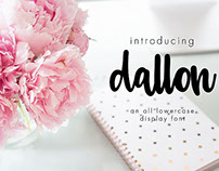 Free Font of the Week - Dallon