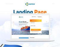 Дизайн Landing Page для логистической компании «Haitun»