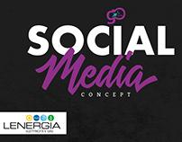 Social media concept LENERGIA