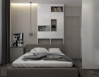 Minimal bedroom. Kiev