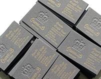 Queen B letterpress business cards