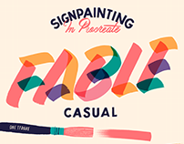 Fable Casual Signpainting Procreate Brush