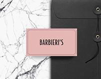 Barbieri's restaurant branding