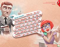 Vodafone / Long Calls / Print Campaign