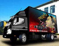 GemGfx Free Lorry Truck Mockup 2015