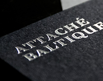 Attaché Baltique handcrafted logotype design