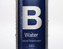 B water | Natural Mineral Water Packaging.