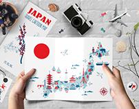 JAPAN cartoon map