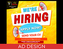Hiring Ad Design (ConeHeads)