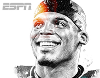 ESPN Magazine Illustrations 2016