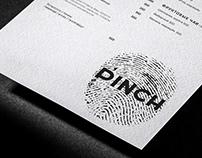 Menu design for Pinch