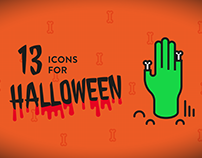 13 Icons for Halloween - Free set