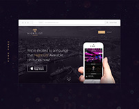 Nightlist London Website, New Experience