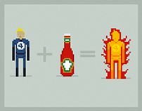 Heinz Tomato Ketchup, only for real superheroes.