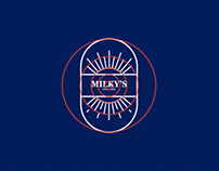 MILKY'S FARMS logo design and branding