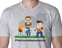 Social Media T-shirt Designs