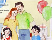 Ilustrações e Projeto Gráfico de livro infantil
