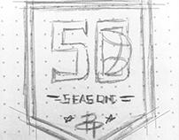 50th Anniversary Rockets logo