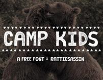 CAMP KIDS: FREE FONT