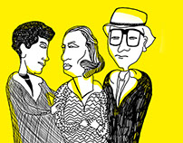 Black/Yellow Illustration