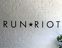 Sign painting at the Brooklyn office of Run Riot Films
