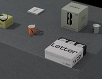 Letter coffee brand identity